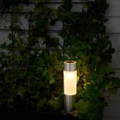 СОЛВИДЕН Светодиодная подсветка н/солнеч бат, цилиндр, цвет алюминия