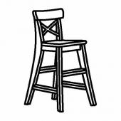 ИНГОЛЬФ Детский стул, морилка,антик