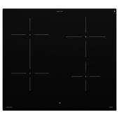 БЭЮБЛАД Индукц варочн панель, ИКЕА 500 черный, 58 см