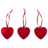 ВИНТЕР 2020 Украшение подвесное, в форме сердца красный, 6.5 см