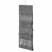СКУББ Подвесной модуль для сумок, темно-серый, 39x93 см