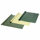 ВИНТЕР 2020 Рулон оберточной бумаги, орнамент «омела», орнамент «точки» зеленый/золотистый, 3x0.7 м/2.10 м²x3 шт