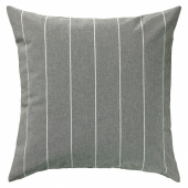 МИЛДРУН Чехол на подушку, серый, в полоску, 50x50 см