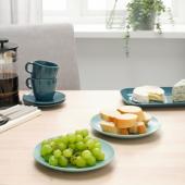 ФЭРГКЛАР Тарелка десертная, матовая поверхность светлая бирюза, 20 см