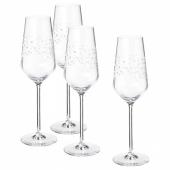 ИНБЬЮДЕН Бокал для шампанского, прозрачное стекло, 24 сл