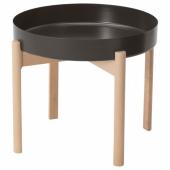 ЮППЕРЛИГ Журнальный стол, темно-серый, береза, 50 см