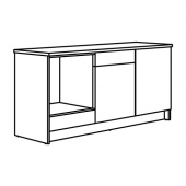 КНОКСХУЛЬТ Напольный шкаф с дверцами и ящиком, серый, 180 см