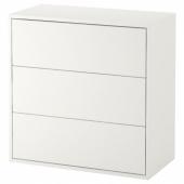 ЭКЕТ Шкаф с 3 ящиками, белый, 70x35x70 см