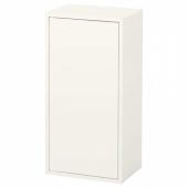ЭКЕТ Шкаф с дверцей и 2 полками, белый, 35x25x70 см