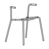 ДИТМАР Основание д/стула с подлокотниками, хромированный