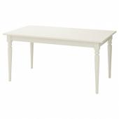 ИНГАТОРП Раздвижной стол, белый, 155/215x87 см