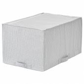 СТУК Сумка для хранения, белый/серый, 34x51x28 см