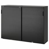 ГАЛАНТ Шкаф с раздвижными дверцами, ясеневый шпон/черная морилка, 160x120 см
