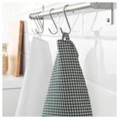 ТРОЛЛЬПИЛ Полотенце кухонное, белый, зеленый, 50x70 см