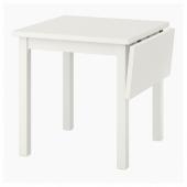 НОРДВИКЕН Стол с откидной полой, белый, 74/104x74 см