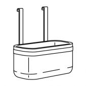 КУНГСФОРС Контейнер, нержавеющ сталь, 24x12x26.5 см