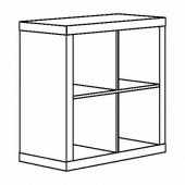 КАЛЛАКС Стеллаж, глянцевый белый, 77x77 см
