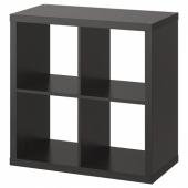 КАЛЛАКС Стеллаж, черно-коричневый, 77x77 см