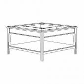 ЛИАТОРП Журнальный стол, белый, стекло, 93x93 см