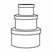КВАРНВИК Набор коробок, 3 шт., серый