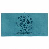 УРСКОГ Банное полотенце, лев, синий, 70x140 см