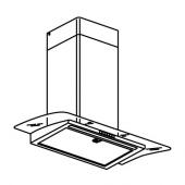 БАЛАНСЕРАД Колпак вытяжного шкафа стенн крепл, нержав сталь, стекло
