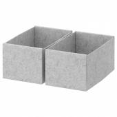 КОМПЛИМЕНТ Коробка, светло-серый, 15x27x12 см