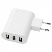 КОПЛА Зарядное устройство/3 USB-порта, белый