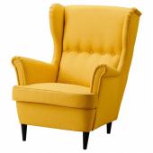 СТРАНДМОН Кресло с подголовником, Шифтебу желтый