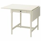 ИНГАТОРП Стол c откидными полами, белый, 65/123x78 см