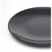 ДИНЕРА Тарелка десертная, темно-серый, 20 см