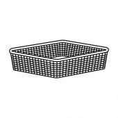 ЙОНАКСЕЛЬ Сетчатая корзина, белый, 50x51x15 см