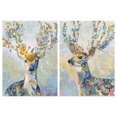 ПЬЕТТЕРИД Картина, Разноцветный олень, 50x70 см