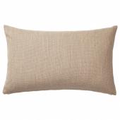 ХИЛЛАРЕД Чехол на подушку, бежевый, 40x65 см