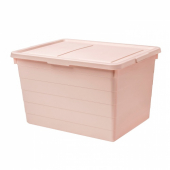 СОККЕРБИТ Контейнер с крышкой, розовый, 38x51x30 см
