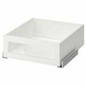 КОМПЛИМЕНТ Ящик/стеклянная фронтальная панель, белый, 50x58 см
