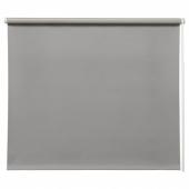 ФРИДАНС Рулонная штора, блокирующая свет, серый, 140x195 см