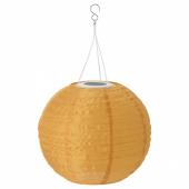 СОЛВИДЕН Подвесная светодиодная лампа, для сада, шаровидный золотой, 30 см