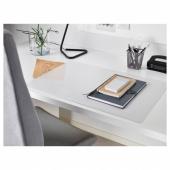 СКВАЛЛЬРА Подкладка на стол, белый, прозрачный, 60x80 см