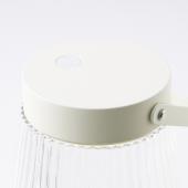 СОЛВИДЕН Светодиодный светильник, для сада, с батарейным питанием прозрачное стекло, 24 см