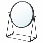 ЛАССБЮН Зеркало настольное, темно-серый, 17 см