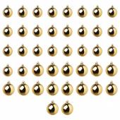ВИНТЕР 2020 Украшение «шар», набор 42 шт., золотой
