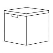 ТЬЕНА Коробка с крышкой, черный, 32x35x32 см