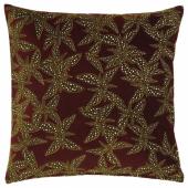ДЕКОРЕРА Чехол на подушку, цветочный орнамент бордовый, 50x50 см