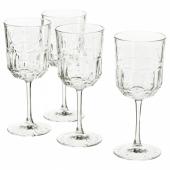СЭЛЛЬСКАПЛИГ Бокал для вина, прозрачное стекло, с рисунком, 27 сл