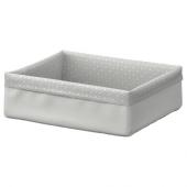 БАКСНА Органайзер, серый, белый, 17x20x6 см