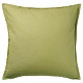 ГУРЛИ Чехол на подушку, оливково-зеленый, 50x50 см