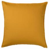 ГУРЛИ Чехол на подушку, золотисто-желтый, 65x65 см