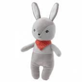 ГУЛЛИГЭСТ Мягкая игрушка-пищалка, серый, красный