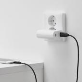ЛИЛЛЬХУЛЬТ Кабель USB тип А – lightning, темно-серый, 1.5 м